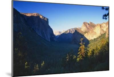 Tunnel View of the Yosemite Valley California-George Oze-Mounted Photographic Print