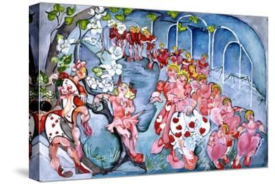 The Queens Croquet Ground-Zelda Fitzgerald-Stretched Canvas Print