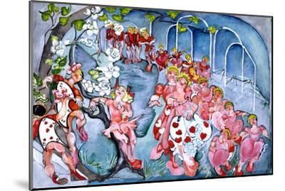 The Queens Croquet Ground-Zelda Fitzgerald-Mounted Art Print
