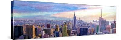 Wide Panorama of Manhattan w New Jersey a Brooklyn-Markus Bleichner-Stretched Canvas Print