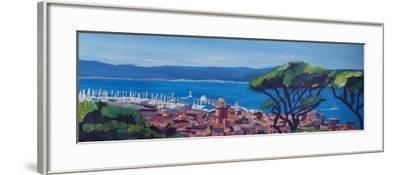 St Tropez Summer Sun Seaview in France-Markus Bleichner-Framed Art Print
