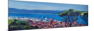 St Tropez Summer Sun Seaview in France-Markus Bleichner-Mounted Art Print