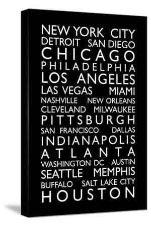 USA Cities Bus Roll-Michael Tompsett-Stretched Canvas Print