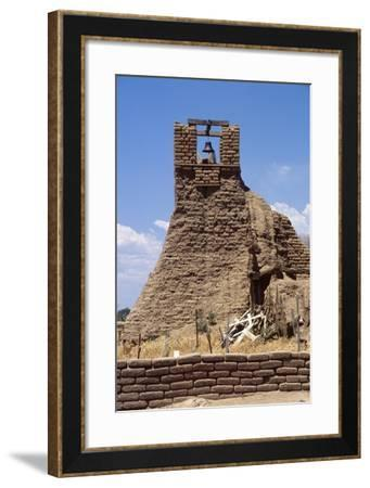 Adobe Bell Tower, Taos, New Mexico-George Oze-Framed Photographic Print