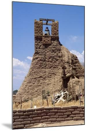 Adobe Bell Tower, Taos, New Mexico-George Oze-Mounted Photographic Print