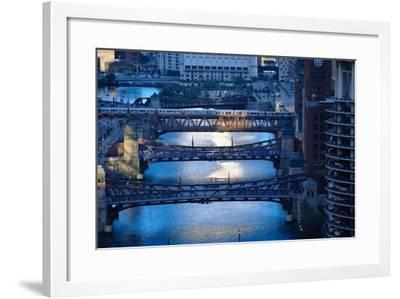 Chicago River First Light-Steve Gadomski-Framed Photographic Print