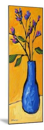 Blue Vase On Yellow-Patty Baker-Mounted Art Print