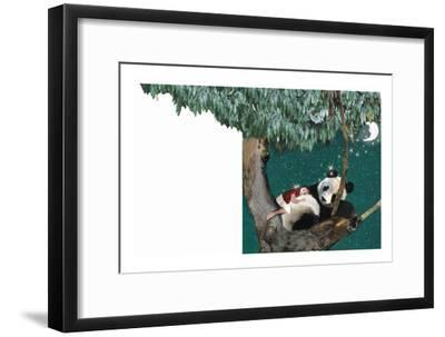 Panda And Child-Nancy Tillman-Framed Art Print