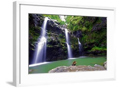 Waikamoi Falls On The Road To Hana-George Oze-Framed Photographic Print