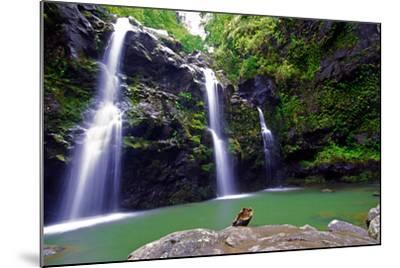 Waikamoi Falls On The Road To Hana-George Oze-Mounted Photographic Print