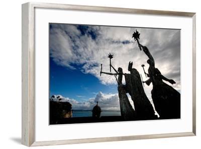 La Rogativa Sculpture, San Juan, Puerto Rico-George Oze-Framed Photographic Print