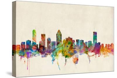 Montreal Canada Skyline-Michael Tompsett-Stretched Canvas Print