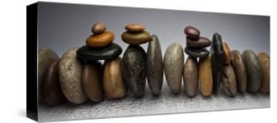 Stacked River Stones-Steve Gadomski-Stretched Canvas Print