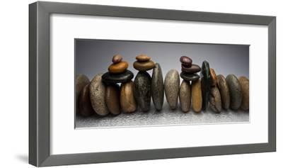 Stacked River Stones-Steve Gadomski-Framed Premium Photographic Print