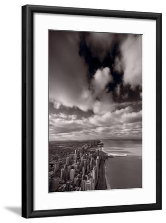 Chicago Aloft BW-Steve Gadomski-Framed Photographic Print