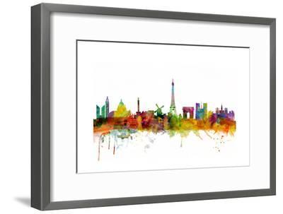 Paris France Skyline-Michael Tompsett-Framed Art Print
