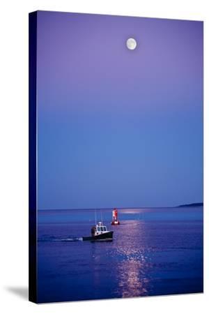 Ocean Moonrise-Steve Gadomski-Stretched Canvas Print