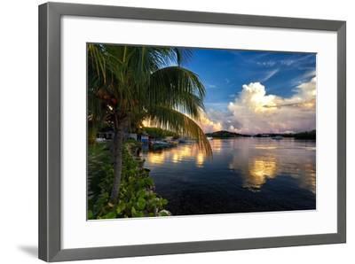 Cloud Reflection, La Parguera, Puerto Rico-George Oze-Framed Photographic Print