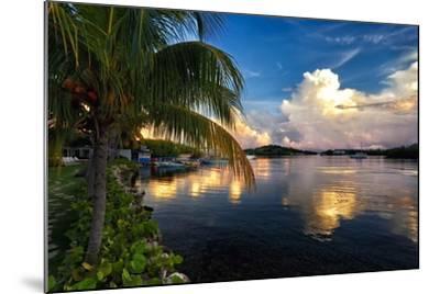 Cloud Reflection, La Parguera, Puerto Rico-George Oze-Mounted Photographic Print
