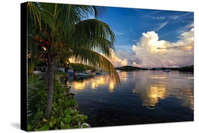 Cloud Reflection, La Parguera, Puerto Rico-George Oze-Stretched Canvas Print
