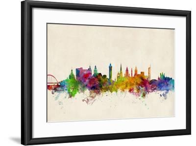 Glasgow Scotland Skyline-Michael Tompsett-Framed Art Print