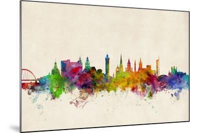 Glasgow Scotland Skyline-Michael Tompsett-Mounted Art Print