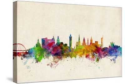Glasgow Scotland Skyline-Michael Tompsett-Stretched Canvas Print