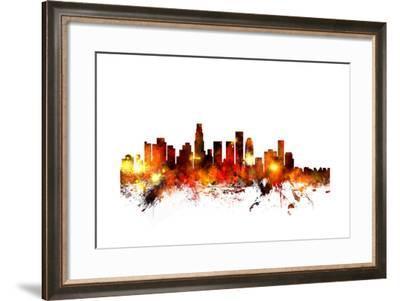 Los Angeles California Skyline-Michael Tompsett-Framed Art Print