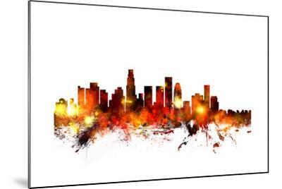 Los Angeles California Skyline-Michael Tompsett-Mounted Art Print