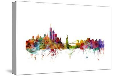 New York Skyline-Michael Tompsett-Stretched Canvas Print