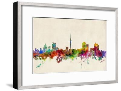 Auckland New Zealand Skyline-Michael Tompsett-Framed Art Print