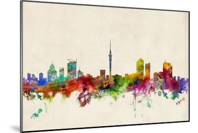 Auckland New Zealand Skyline-Michael Tompsett-Mounted Art Print