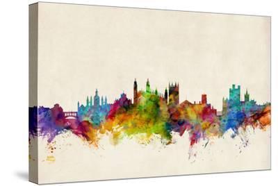 Cambridge England Skyline-Michael Tompsett-Stretched Canvas Print