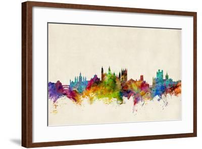 Cambridge England Skyline-Michael Tompsett-Framed Art Print