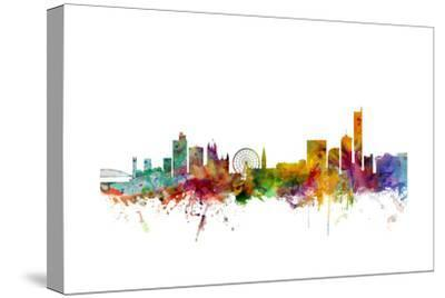 Manchester England Skyline-Michael Tompsett-Stretched Canvas Print
