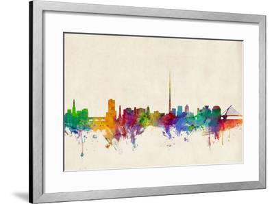 Dublin Ireland Skyline-Michael Tompsett-Framed Art Print