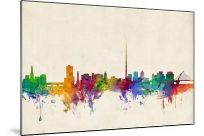 Dublin Ireland Skyline-Michael Tompsett-Mounted Art Print