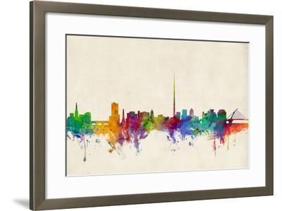 Dublin Ireland Skyline-Michael Tompsett-Framed Art Print