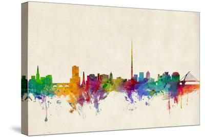 Dublin Ireland Skyline-Michael Tompsett-Stretched Canvas Print