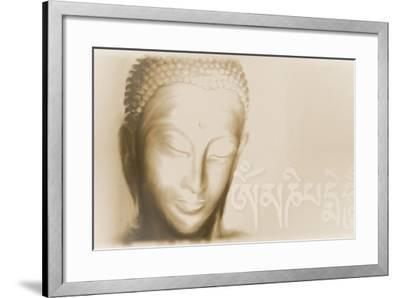 Buddha- Om mani padme hum-Christine Ganz-Framed Art Print
