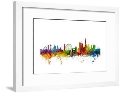 London England Skyline-Michael Tompsett-Framed Art Print