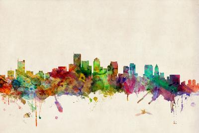 Boston Massachusetts Skyline-Michael Tompsett-Art Print