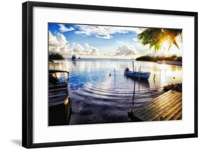 Sunset in a Fishing Village, Puerto Rico-George Oze-Framed Photographic Print