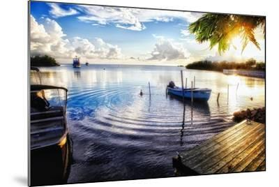 Sunset in a Fishing Village, Puerto Rico-George Oze-Mounted Photographic Print