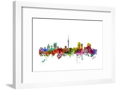 Auckland New Zealand Skyline-Michael Tompsett-Framed Art Print