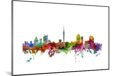 Auckland New Zealand Skyline-Michael Tompsett-Mounted Art Print