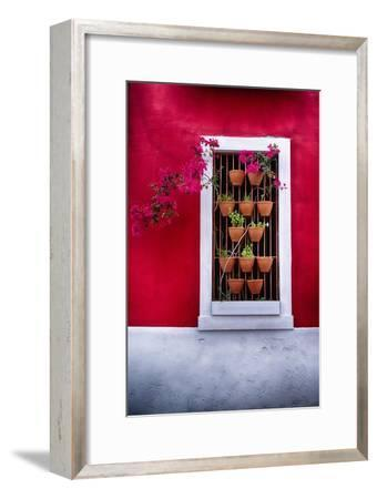 Old San Juan Window, Puerto Rico-George Oze-Framed Photographic Print