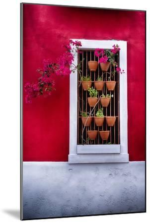 Old San Juan Window, Puerto Rico-George Oze-Mounted Photographic Print