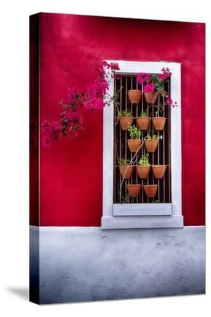 Old San Juan Window, Puerto Rico-George Oze-Stretched Canvas Print
