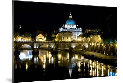 St Peters Rome At Night-Charles Bowman-Mounted Photographic Print